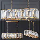 Chandelier Harlow Crystal SQUARE Gold