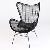 HK-Living Natural rattan egg chair