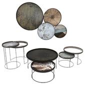 Notre Monde Round Tray Table Set