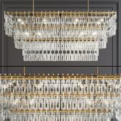 Restoration Hardware MARIGNAN LINEAR CHANDELIER 60 Brass