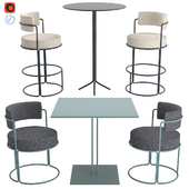 Mikonos High Table, Paradiso Table, Paradiso Chair and Bar Stool