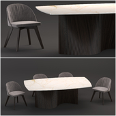 Natisa | Orbit table | Rose chair