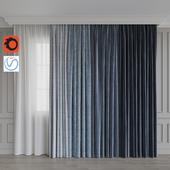 A set of curtains 8. Blue gamma