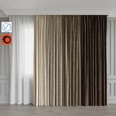A set of curtains 10. Beige gamma