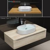 Wash basin RAVAK Ceramic Slim O