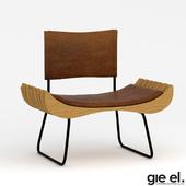 ORGANIQUE wooden armchair on skids FST0280