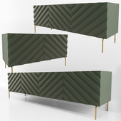Decorative Chevron Console