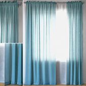 Curtains 95 | EMILY VOILE | Aegean Blue