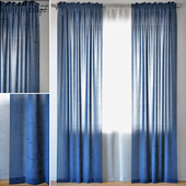 Curtains 97 | ERICA CRUSH VOILE | Blue
