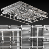 Ceiling Ventilation Gray