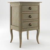 Bedside Table With Fluting