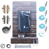 Мебель из дерева / Wood Furniture/sink/mixer