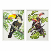 Pictures in frame Art Paradise Bird from Kare design