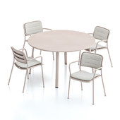 Kettal Village Round Dining Table and Chair