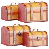 Vintiquewise Decorative Wood Leather Treasure Box