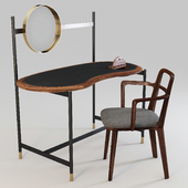 Porada: Writing Desk/Dressing Table - Ninfea and Chair - Rosita