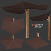 Wall-mounted Garden umbrella