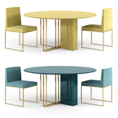 MERIDIANI Plinto table and Rider Chairs