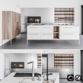 Cesar Unit collection kitchen with island and sideboard