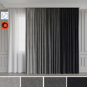 A set of curtains 11. Gray gamma