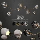 Branching bubble 8 lamps