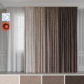 A set of curtains 12. Beige gamma