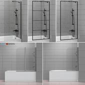 Шторки для ванн и ванны Cersanit and Radaway set 42