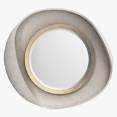 R & Y Augousti - Petal mirror in cream shagreen