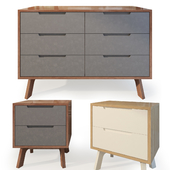Curbstone and chest of drawers Jenson. Tim Fenby. Nightstand dresser