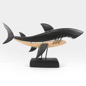 Shark Wooden Sculpture
