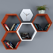 Bookshelf decor set