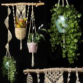 Decorative set of hanging pots 2