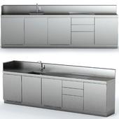 Steel outdoor kitchen ATELIER ABIMIS