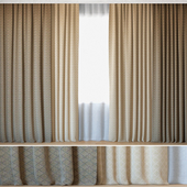 Curtains 100 | Curtains with Tulle | Fabricut | Vicenza