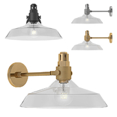 RH - Condorcet Clear Glass Shade Sconce