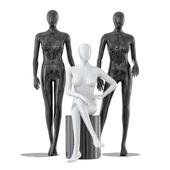 Three faceless female mannequins 24