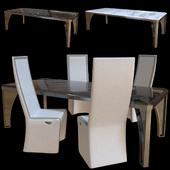 Karl table and chair Rachele. Longhi.