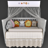 Cots Mon Tresor and underwear in the crib Friends Safari Beige