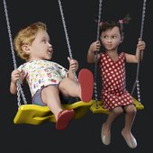 Children on the swing