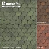 Бесшовные текстуры гибкой черепицы DOCKE коллекция Купол