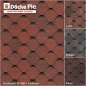 Бесшовные текстуры гибкой черепицы DOCKE коллекция Ница
