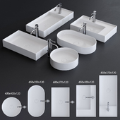 Alice Ceramica Hide Washbasin Set 2