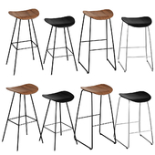 GUBI 2D Bar Stool & Counter Stool set