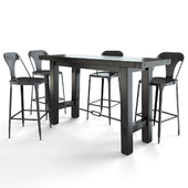 Benchwright Bar Table + Maxx Metal Bar Stool