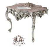 (ОМ) Консоль Изабелла для ванной комнаты (2 ножки) Romano Home