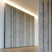 Decorative wall. Soft panel. 53