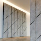 Decorative wall. Soft panel. 55