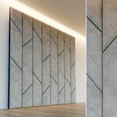 Decorative wall. Soft panel. 56