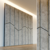 Decorative wall. Soft panel. 58