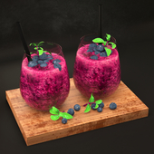 Decoration Set - 01 - Blueberry Smoothie